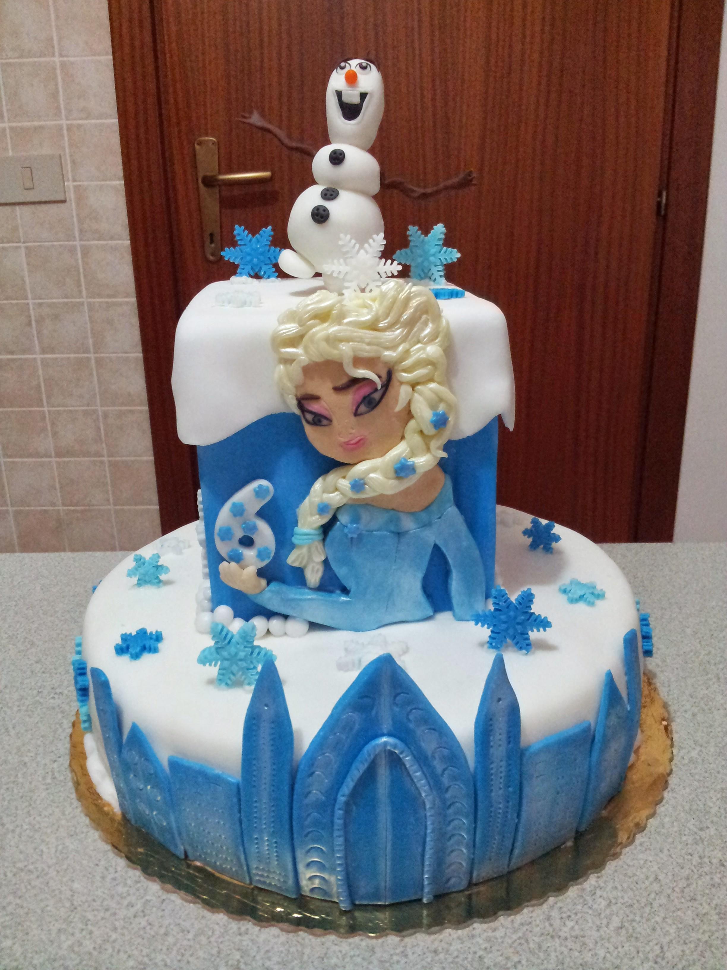 Populaire Frozen: torta di compleanno a tema | IdeAmica XG14